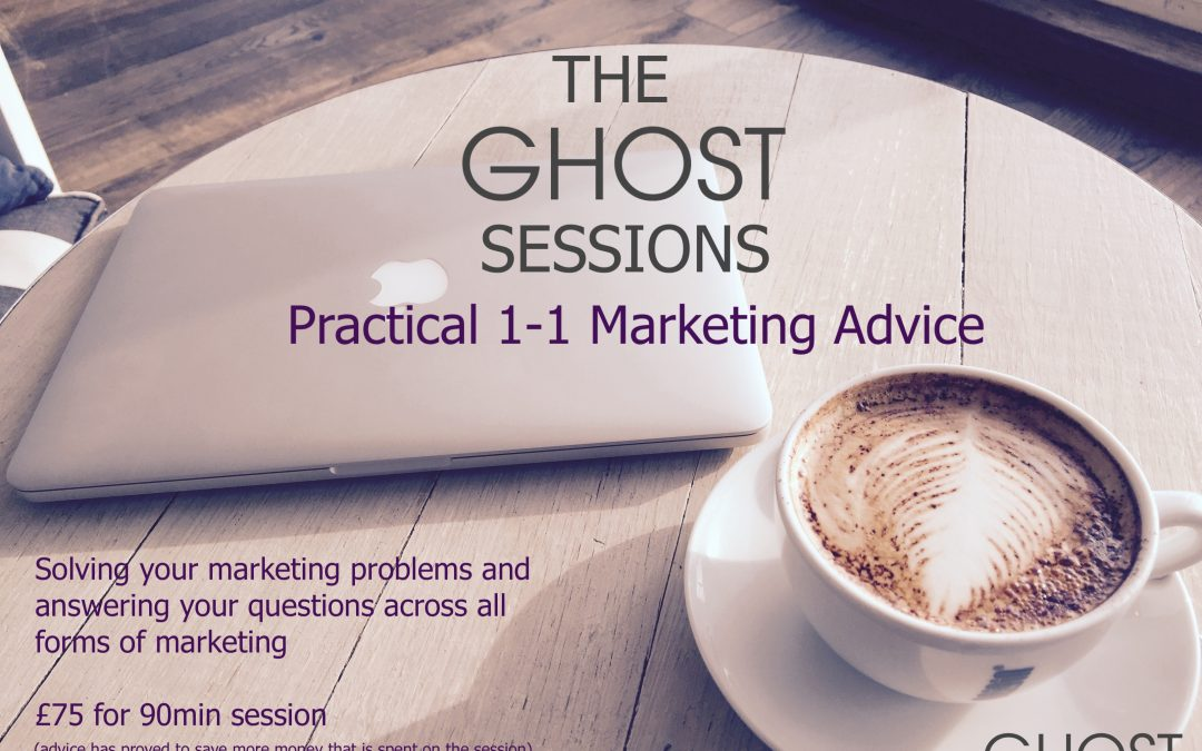 New Ghost Sessions are Launched – Practical 1-1 Marketing Sessions
